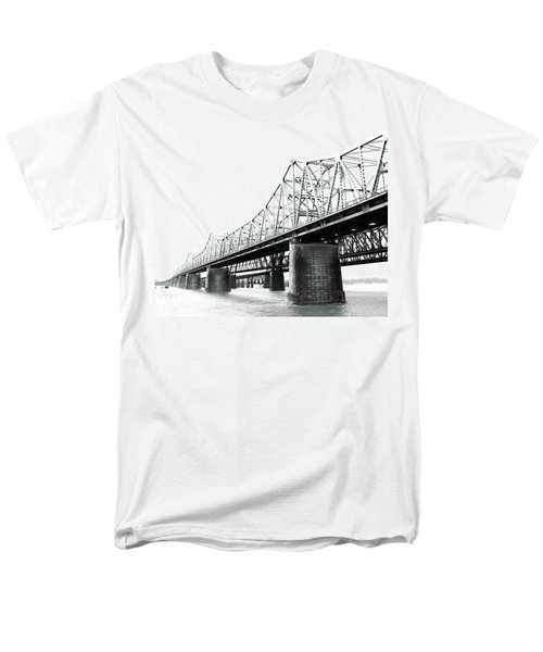 Men's T-Shirt  (Regular Fit) featuring the photograph The Old Bridges At Memphis by Lizi Beard-Ward