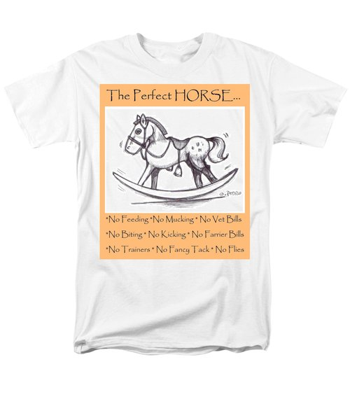 Men's T-Shirt  (Regular Fit) featuring the drawing the Perfect Horse by George Pedro