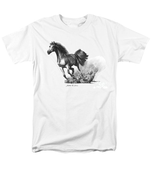 Men's T-Shirt  (Regular Fit) featuring the drawing the Race is on  by Marianne NANA Betts