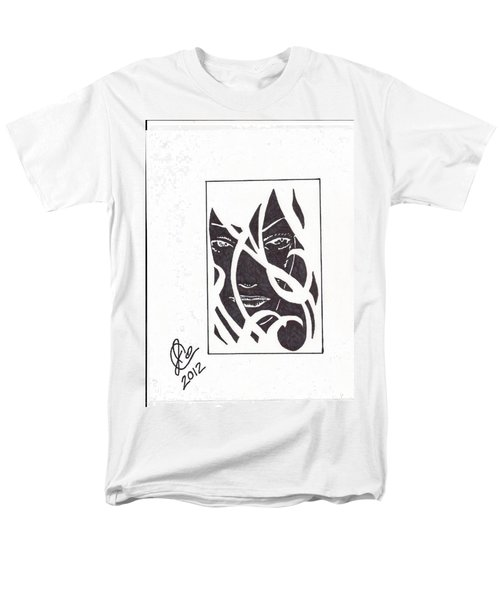 Men's T-Shirt  (Regular Fit) featuring the drawing The Unkown Woman by Jeremiah Colley