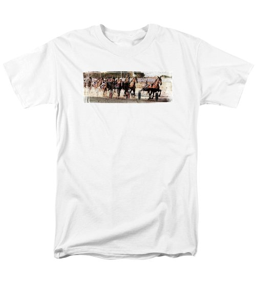 Men's T-Shirt  (Regular Fit) featuring the photograph Trotting 3 by Pedro Cardona