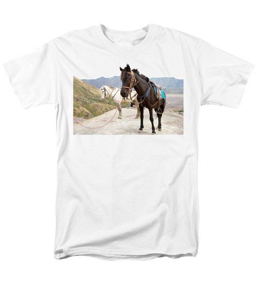 Two Horses Men's T-Shirt  (Regular Fit) by Yew Kwang