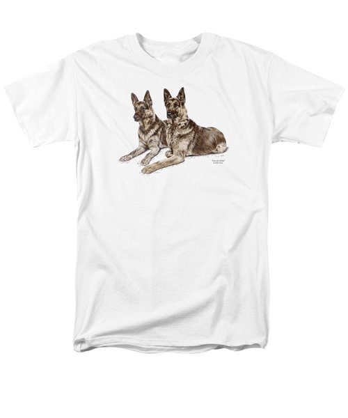 Two Of A Kind - German Shepherd Dogs Print Color Tinted Men's T-Shirt  (Regular Fit) by Kelli Swan