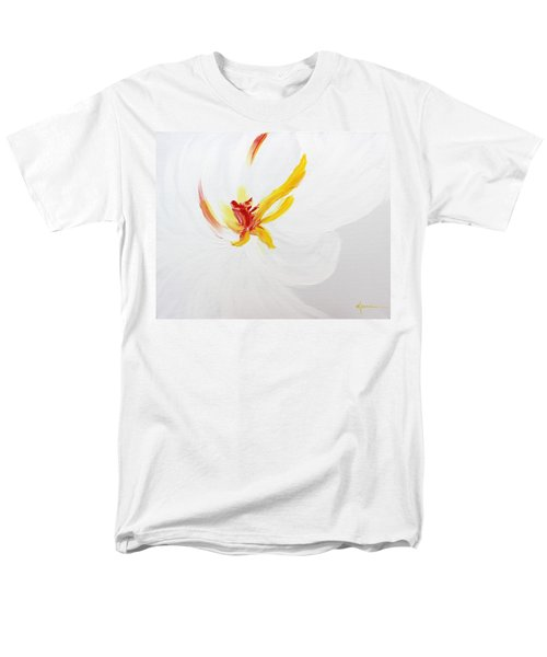 Men's T-Shirt  (Regular Fit) featuring the painting White Flower by Kume Bryant