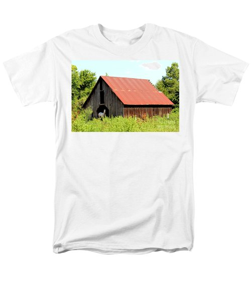 Men's T-Shirt  (Regular Fit) featuring the photograph White Horse Waiting by Kathy  White