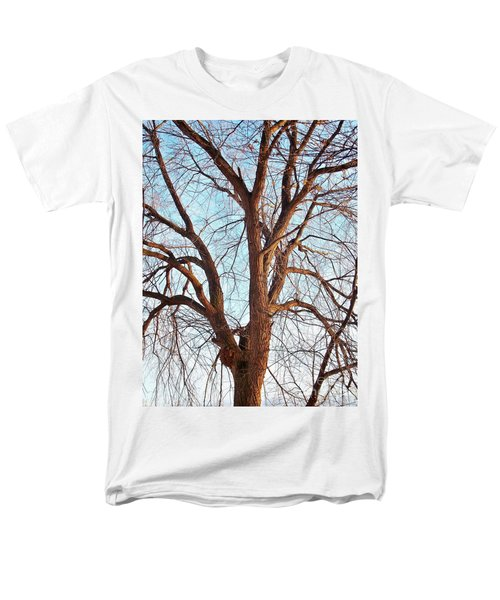 Men's T-Shirt  (Regular Fit) featuring the photograph Winter Light by Chalet Roome-Rigdon