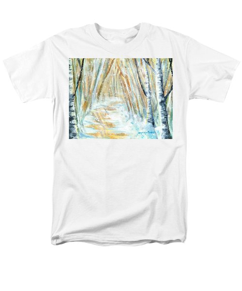 Men's T-Shirt  (Regular Fit) featuring the painting Winter by Shana Rowe Jackson