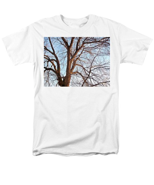 Men's T-Shirt  (Regular Fit) featuring the photograph Winter Sunlight On Tree  by Chalet Roome-Rigdon