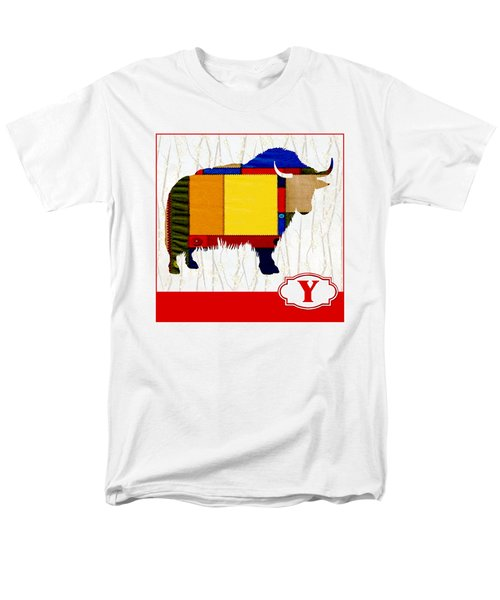 Y Is For Yak Men's T-Shirt  (Regular Fit) by Elaine Plesser