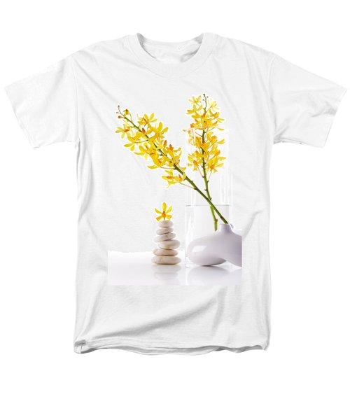 Yellow Orchid Bunchs Men's T-Shirt  (Regular Fit) by Atiketta Sangasaeng