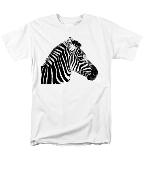Men's T-Shirt  (Regular Fit) featuring the photograph Zebra by Rebecca Margraf