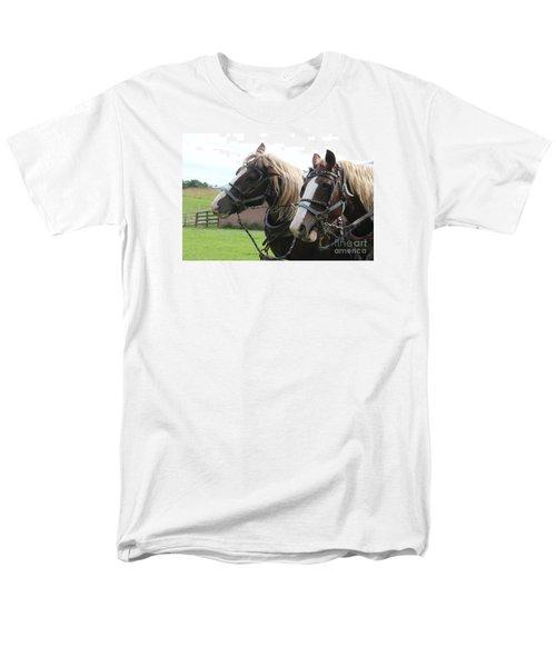 Men's T-Shirt  (Regular Fit) featuring the photograph  Belgian Horses by Yumi Johnson