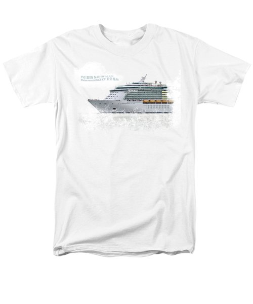 I've Been Nauticle On Independence Of The Seas On Transparent Background Men's T-Shirt  (Regular Fit) by Terri Waters