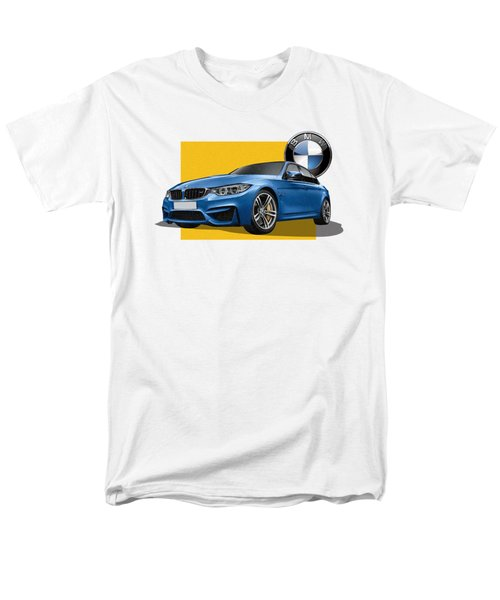 2016  B M W  M 3  Sedan With 3 D Badge  Men's T-Shirt  (Regular Fit) by Serge Averbukh