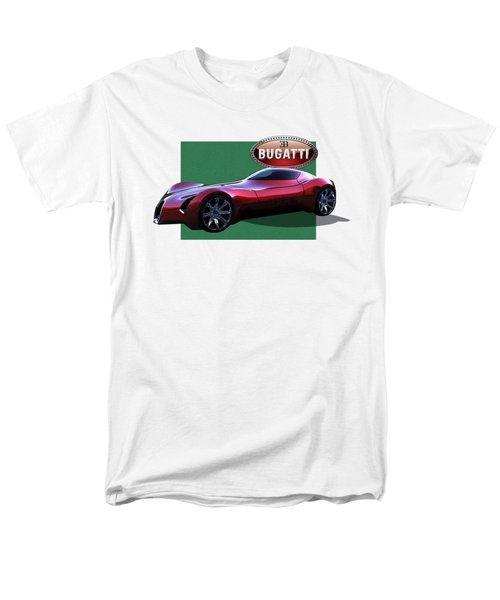 2025 Bugatti Aerolithe Concept With 3 D Badge  Men's T-Shirt  (Regular Fit) by Serge Averbukh