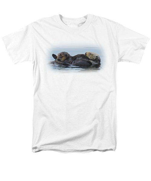 A Mama Sea Otter And Her Babe Men's T-Shirt  (Regular Fit) by Sandra O'Toole