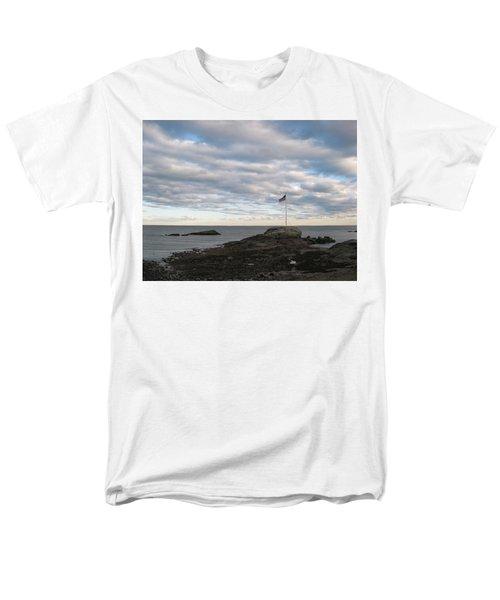 Anchor Beach Men's T-Shirt  (Regular Fit) by John Scates