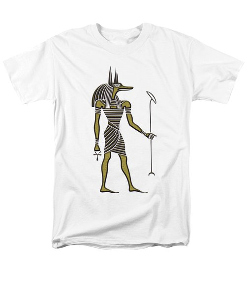 Men's T-Shirt  (Regular Fit) featuring the mixed media Anubis - God Of Ancient Egypt by Michal Boubin