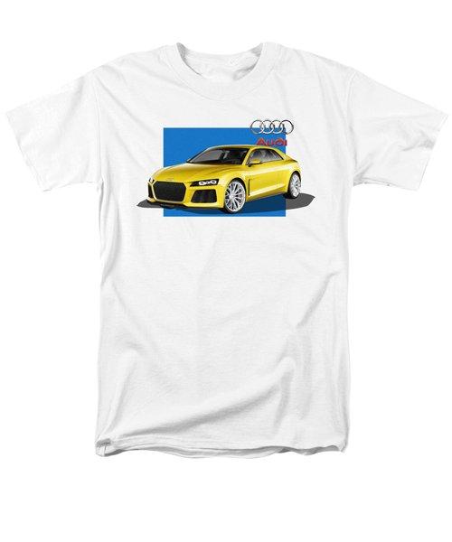 Audi Sport Quattro Concept With 3 D Badge  Men's T-Shirt  (Regular Fit) by Serge Averbukh