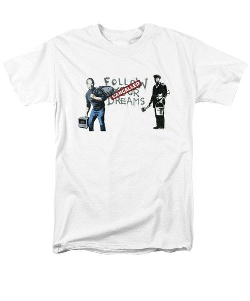 Banksy - The Tribute - Follow Your Dreams - Steve Jobs Men's T-Shirt  (Regular Fit)