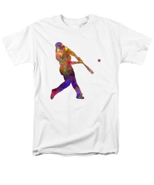 Baseball Player Hitting A Ball Men's T-Shirt  (Regular Fit) by Pablo Romero