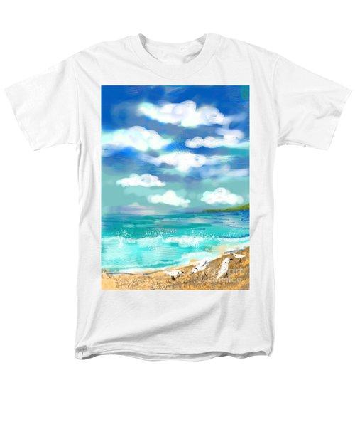 Beach Birds Men's T-Shirt  (Regular Fit) by Elaine Lanoue
