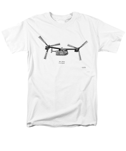 Bell Boeing Cv-22b Osprey Men's T-Shirt  (Regular Fit) by Arthur Eggers