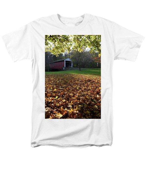 Billy Creek Bridge Men's T-Shirt  (Regular Fit) by Joanne Coyle