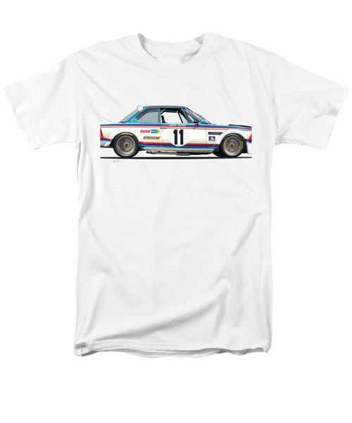Bmw 3.0 Csl Chris Amon, Hans Stuck Men's T-Shirt  (Regular Fit) by Alain Jamar