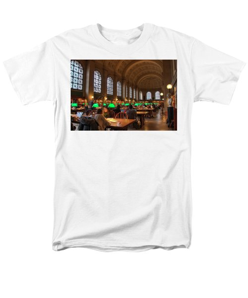 Men's T-Shirt  (Regular Fit) featuring the photograph Boston Public Library by Joann Vitali