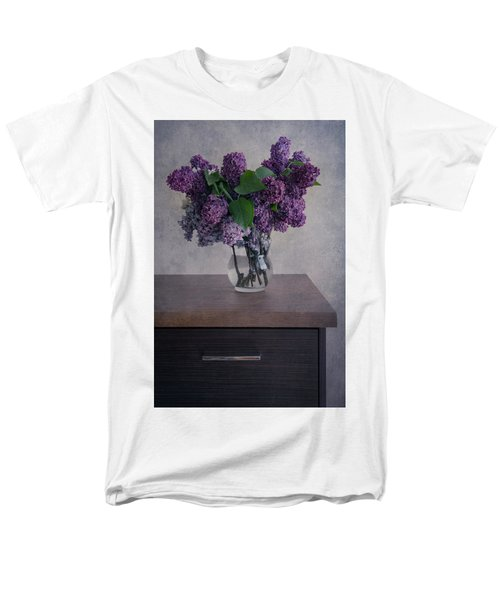 Men's T-Shirt  (Regular Fit) featuring the photograph Bouquet Of Fresh Lilacs by Jaroslaw Blaminsky