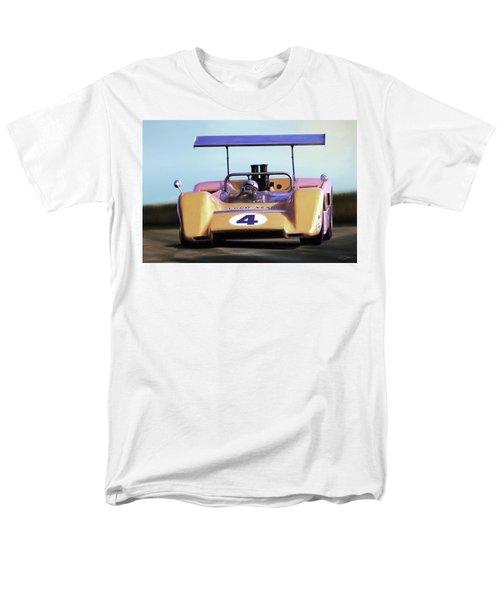 Men's T-Shirt  (Regular Fit) featuring the digital art Bruce Mclaren M8b by Peter Chilelli