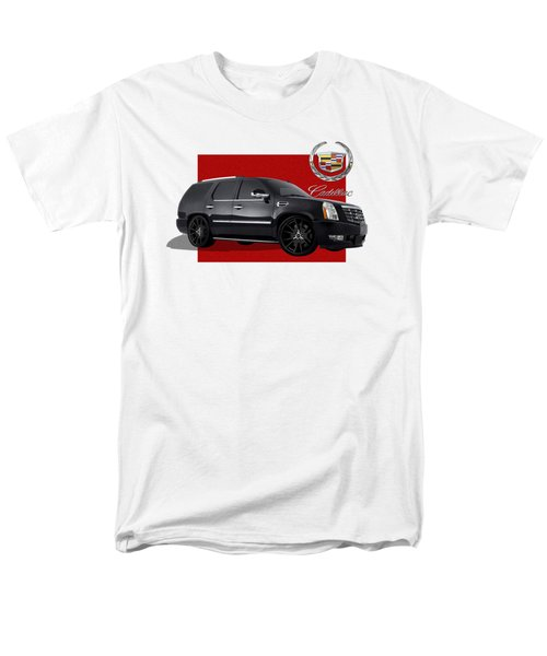 Cadillac Escalade With 3 D Badge  Men's T-Shirt  (Regular Fit) by Serge Averbukh