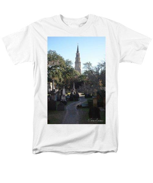 Circular Congregational Graveyard 3 Men's T-Shirt  (Regular Fit) by Gordon Mooneyhan