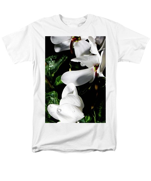 Men's T-Shirt  (Regular Fit) featuring the photograph Cyclamen by Mindy Newman