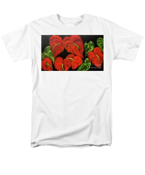 Dancing Anthuriums Men's T-Shirt  (Regular Fit)