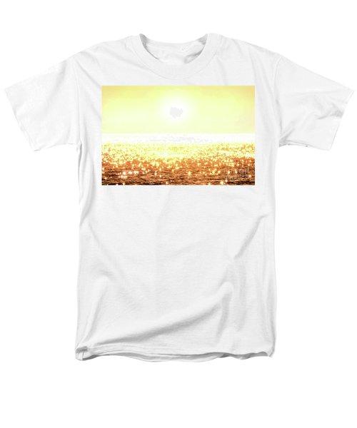 Rose Gold Diamonds Men's T-Shirt  (Regular Fit) by Michael Rock