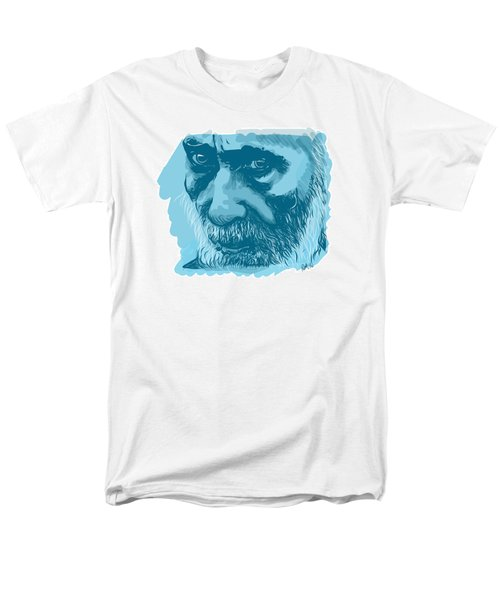 Men's T-Shirt  (Regular Fit) featuring the drawing Eyes by Antonio Romero