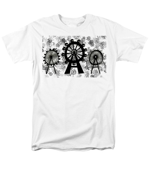 Ferris Wheel - London Eye Men's T-Shirt  (Regular Fit) by Michal Boubin
