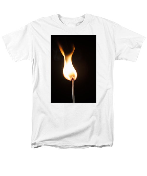Men's T-Shirt  (Regular Fit) featuring the photograph Flame by Tyson and Kathy Smith