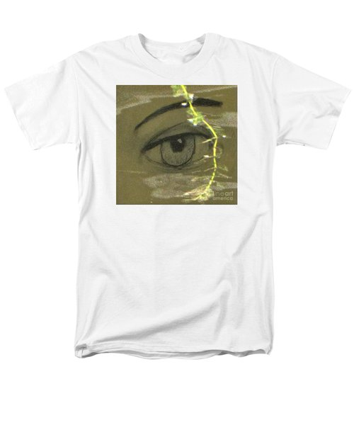 Men's T-Shirt  (Regular Fit) featuring the mixed media Green Eyes by Yury Bashkin