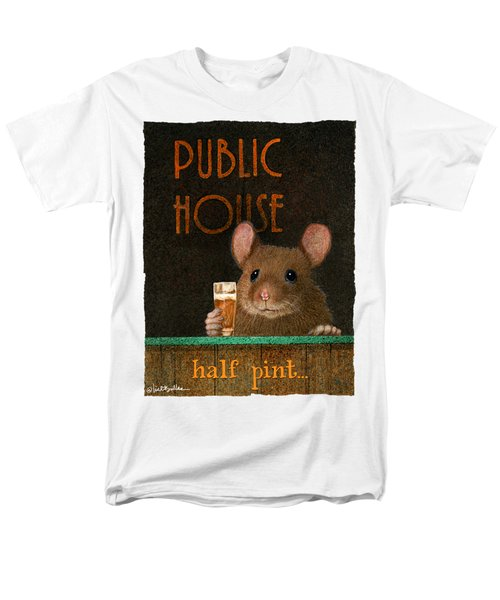 Men's T-Shirt  (Regular Fit) featuring the painting Half Pint... by Will Bullas