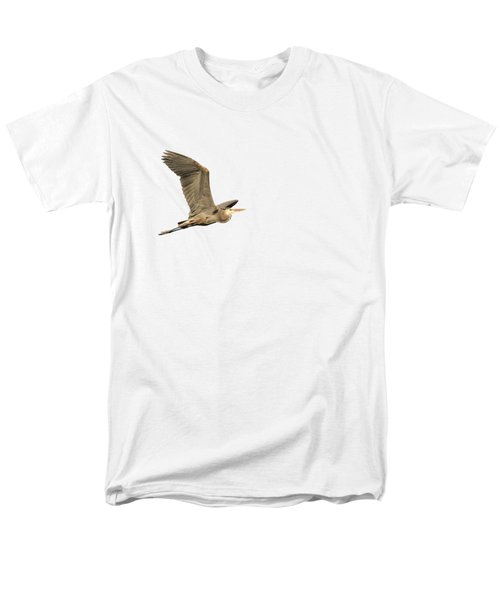 Isolated Great Blue Heron 2015-5 Men's T-Shirt  (Regular Fit)