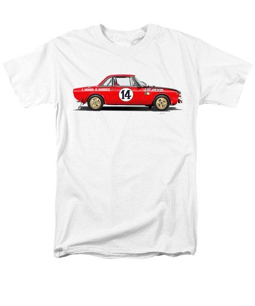 Lancia Fulvia Hf Illustration Men's T-Shirt  (Regular Fit) by Alain Jamar