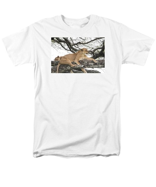 Lions In A Tree Men's T-Shirt  (Regular Fit) by Pravine Chester