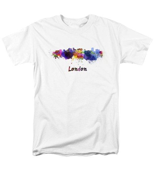 London Skyline In Watercolor Men's T-Shirt  (Regular Fit) by Pablo Romero