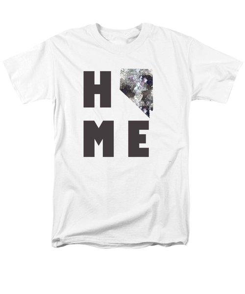 Men's T-Shirt  (Regular Fit) featuring the digital art Nevada State Map by Marlene Watson