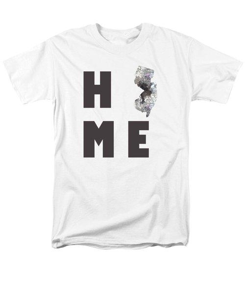 Men's T-Shirt  (Regular Fit) featuring the digital art New Jersey State Map by Marlene Watson