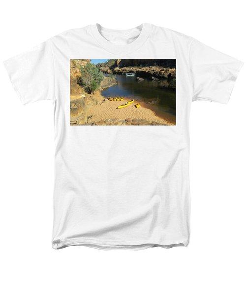 Men's T-Shirt  (Regular Fit) featuring the photograph Nitmiluk Gorge Kayaks by Tony Mathews