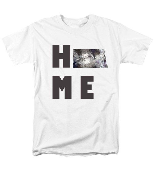 Men's T-Shirt  (Regular Fit) featuring the digital art North Dakota State Map by Marlene Watson